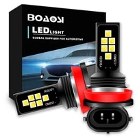 2x car fog lamp h11 led lamp h8 led h7 9006 hb4 led car fog light bulb 6000k white 12v