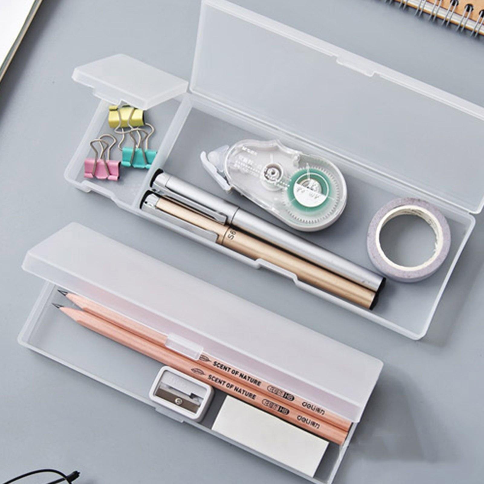 Пластиковый Чехол для карандашей, современный простой чехол для канцелярских принадлежностей, пенал для карандашей, ручек, буровых сверл, р...