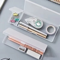 plastic pencil case modern simple stationery case pencil box for pencils pens drill bits rubber home office supplies organizer