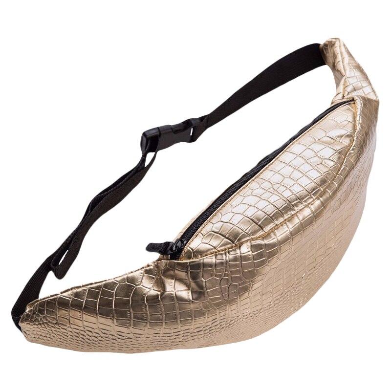 Nueva de moda Bolsa de Oro de la botella de cocodrilo PU cintura bolsa fanny pack para las mujeres bolsa de bolsas de pierna bolso párr lujos