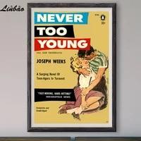 V197 1956  surtension de tort  Affiche en soie personnalisee  Vintage  film classique  decoration murale  cadeau de noel