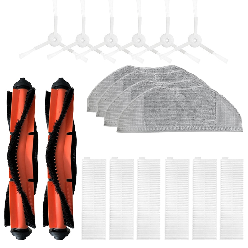 الرئيسية فرشاة الجانب فرشاة تصفية ممسحة القماش مجموعة ل شاومي Mijia G1 MJSTG1 فراغ نظافة استبدال أجزاء
