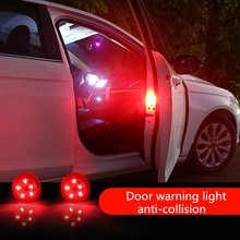 2pcs Car Door Open Safety Warning Lights For Nissan X-Trail Terrano Qashqai Sentra Altima versa rogue Almera X-Trail Juke