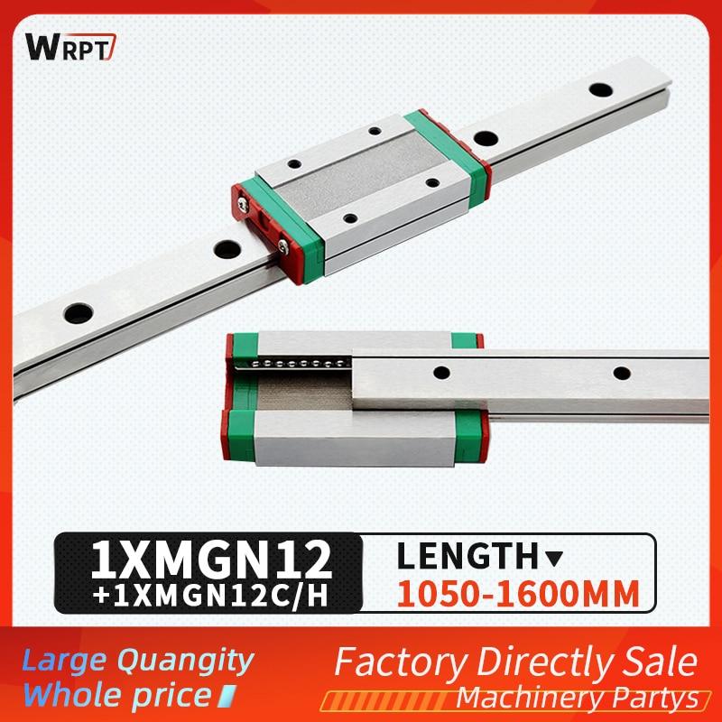 MGN12 12 مللي متر دليل خطي 1050 1100 1150 1200 1250 1300 1350 1400 1450 1500 1550 1600 مللي متر خطي السكك الحديدية + MGN12H أو MGN12C كتلة CNC