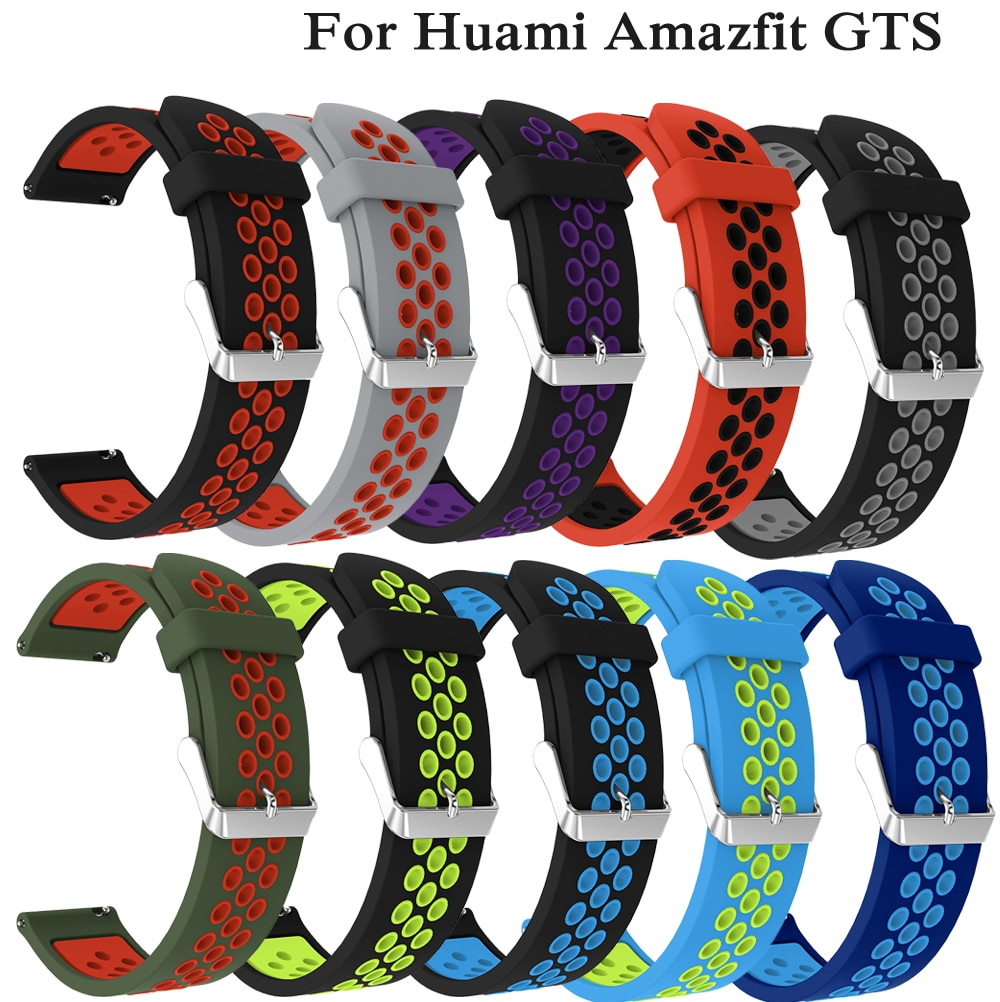 Soft Silicone Strap for Huami Amazfit GTS GTR 42mm Bracelet 20mm Wrist Band for Huami Amazfit Bip BIT Youth Wearable Watch bands sports silicone wrist strap bands for xiaomi huami amazfit bip bit pace lite youth smart watch replacement band