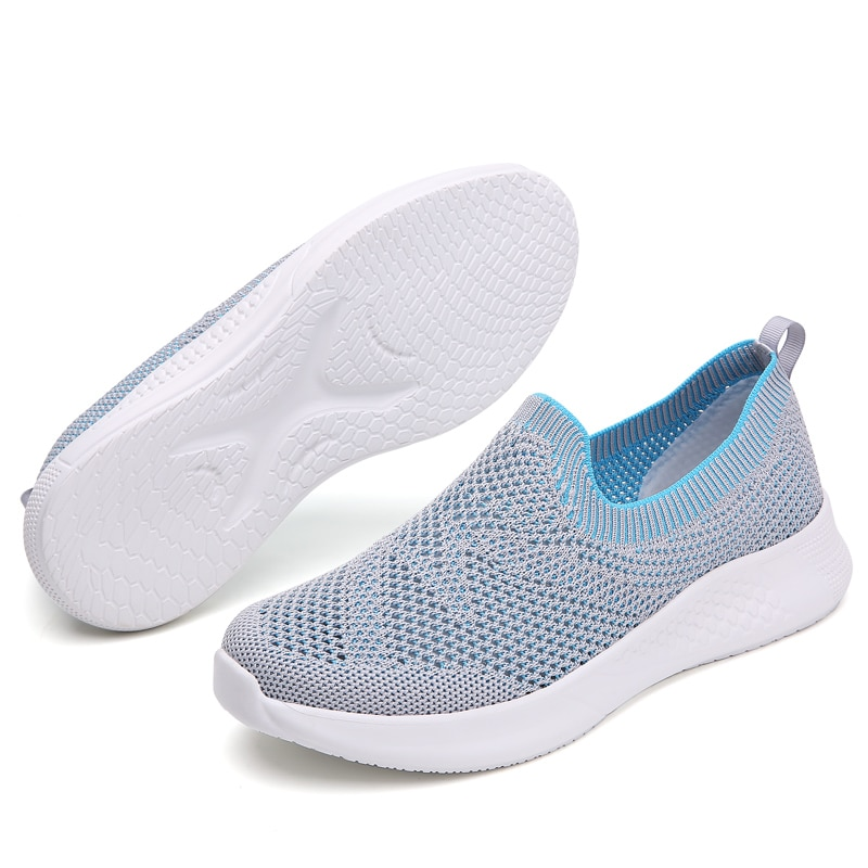 2020 Summer shoes women loafers Slip on casual Shoes Sneakers brand mesh breathable ultralight flats zapatillas Sock Shoes 35-42