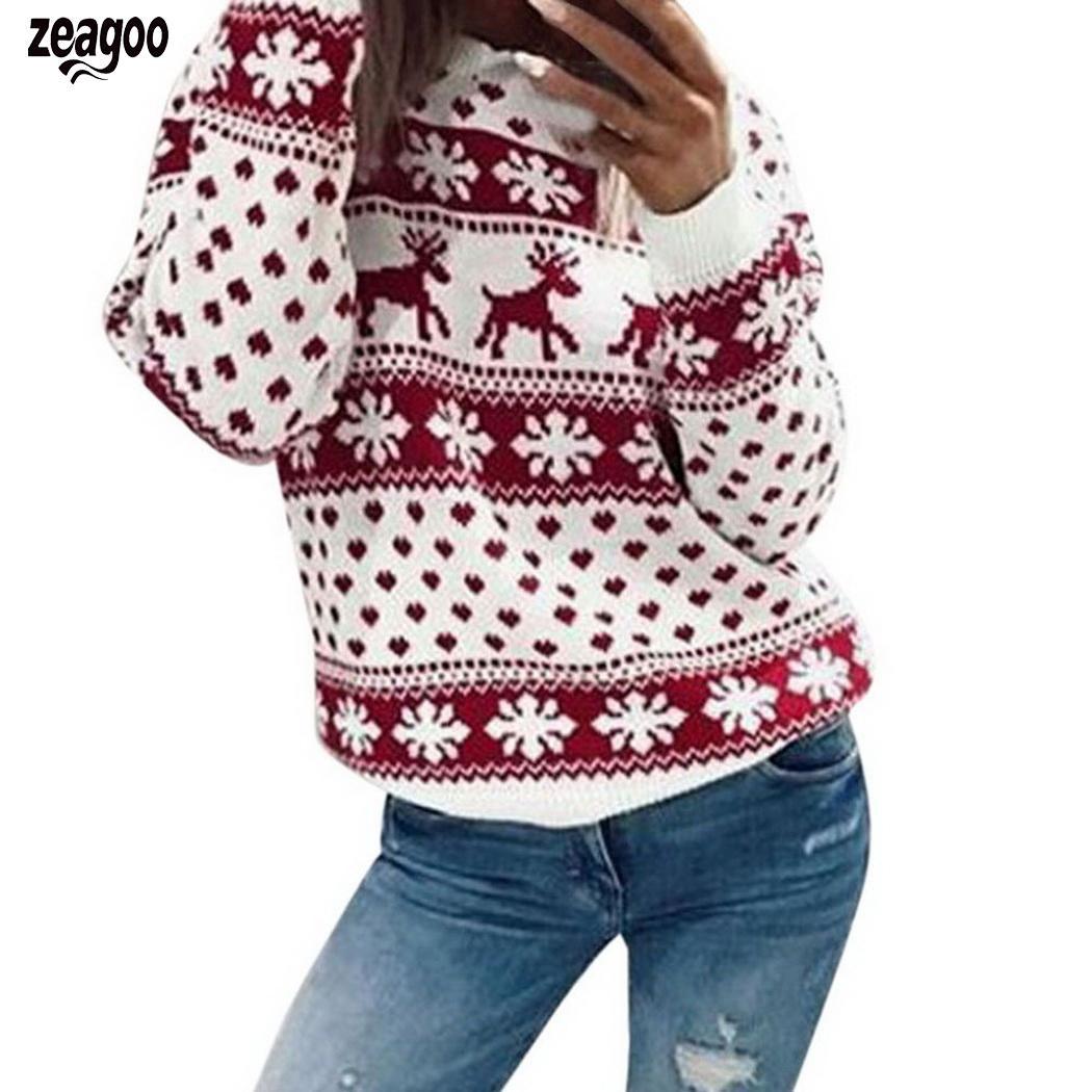 Women Casual O-Neck Long Sleeve Print Pullover Spring, Autumn, Winter Loose Sweatshirt Top