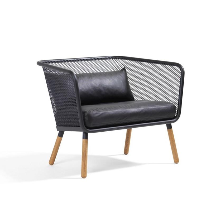 Paquete de sillas de 60x, silla de salón de malla de alambre elegante industrial/hierro hecho con pintura a prueba de polvo/cojines de cuero ecológico incluidos