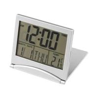 lcd digital morning clarm clock folding portable lcd calendar weather station desk temperature home office travel alarm clock