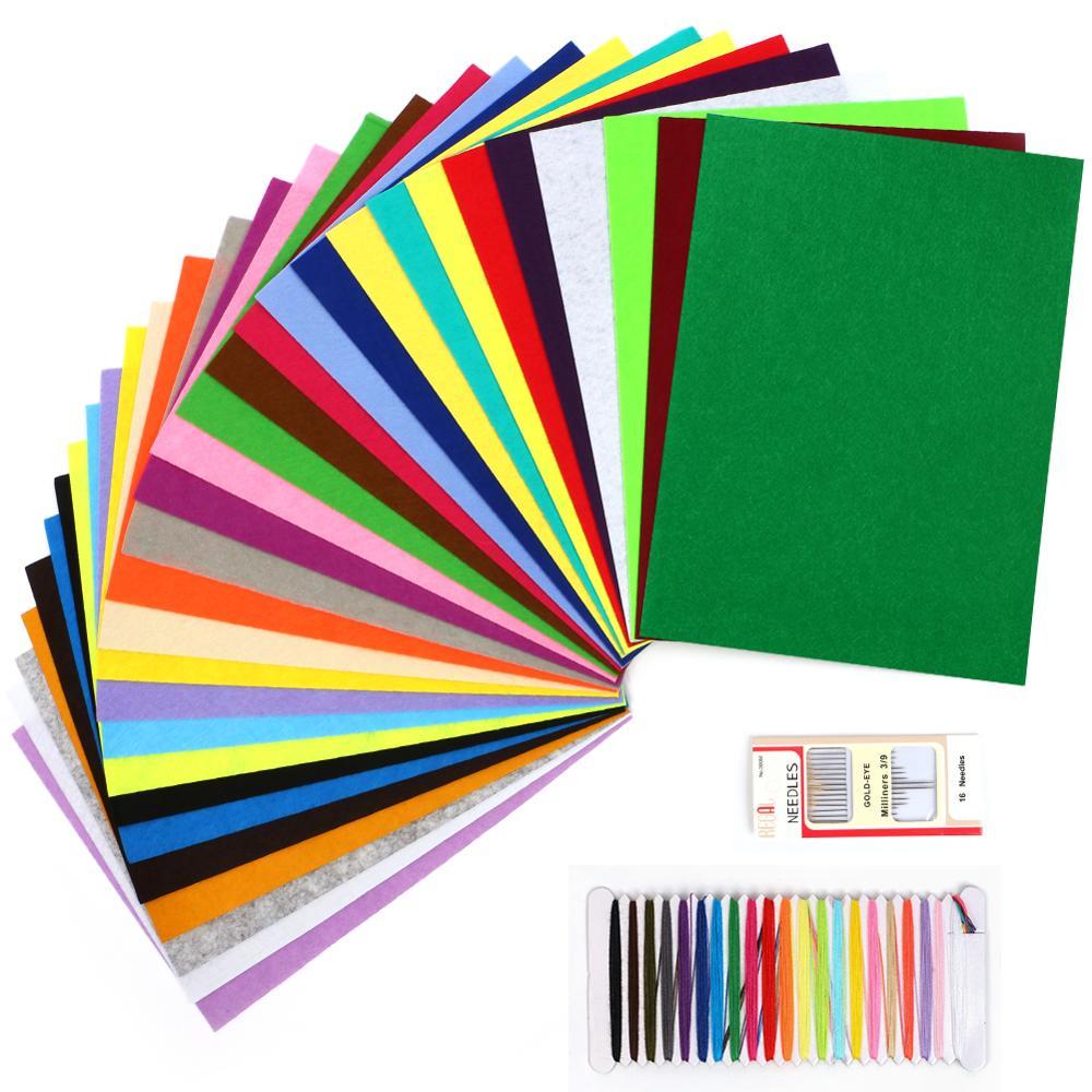 Felpudos de poliéster de tela de colores mezclados no tejidos para muñecas Diy, adornos para manualidades