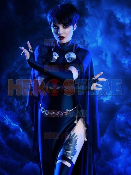 Traje azul marino de DC Comics para mujer, traje de Cosplay de LICRA para chicas, vestido Zentai, traje de LICRA para mujer con capa y cinturón dorado
