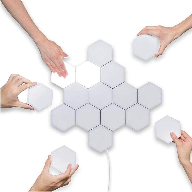 2021 Touch Sensitive Lighting Lamp Hexagonal Lamps Quantum Lamp Modular LED Night Light Hexagons Creative Decoration Lamp