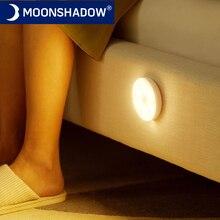 Decorazioni per la camera da letto luci notturne sensore di movimento lampada da notte regalo per bambini ricarica USB decorazione camera da letto luce notturna a Led MOONSHADOW