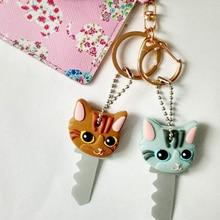 Nouvelle mode mignon chiot carlin chat lapin porte-clés porte-clés PVC porte-clés unisexe clé couvercle capuchon porte-clés