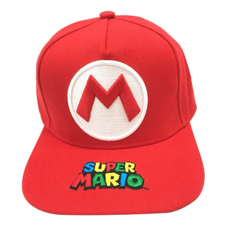 Wholesale Mario Stitching Embroidery Child Girl Baseball Cap Cosplay Flat Casual Hip Hop Hat Travel