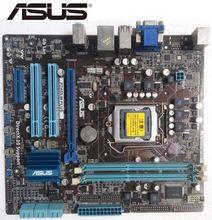 ASUS original utilisé carte mère P7H55-M PLUS LGA 1156 DDR3 cartes support I3 I5 I7 H55 bureau carte mère carte mère