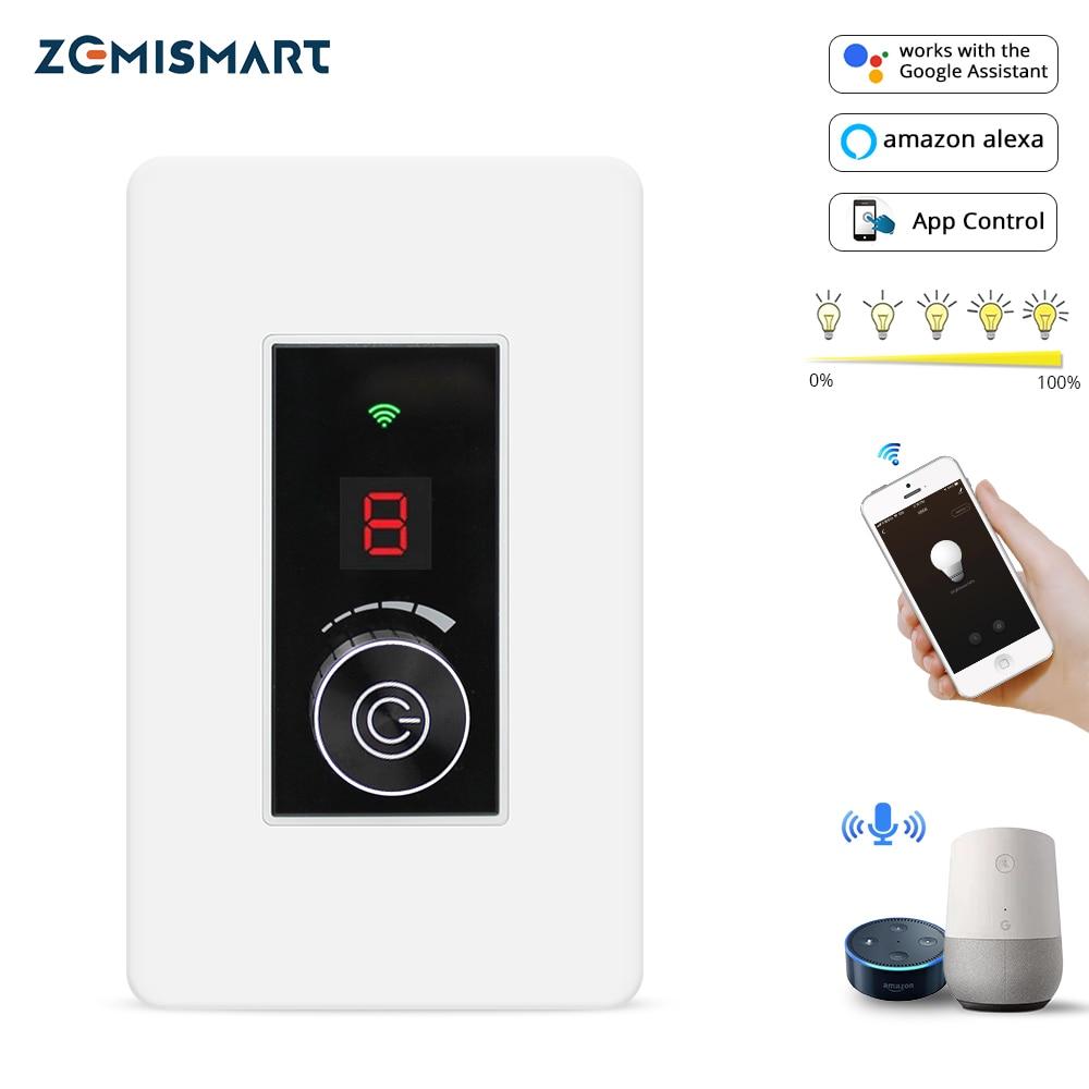Atenuador WiFi interruptor Tuya vida inteligente de Control inteligente WiFi en casa interruptor de luz Compatible con Alexa eco de Google
