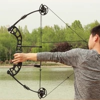 shooting pulley bow hunting suit 30 60 lbs archery composite bow light magnesium alloy riser arrow slingshot