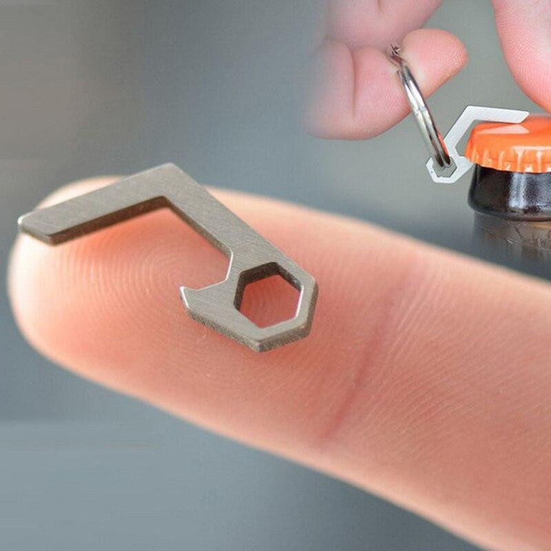 Giveaway, только один день. EDC Gear Мини легкая открывашка для пивных бутылок брелок Карманный инструмент утилита гаджет для походов на открытом в...