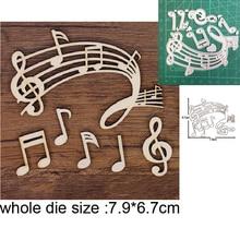 Troqueles para manualidades, troqueles de corte de metal, molde para cortar hojas, notas musicales, álbum de recortes de Feliz Navidad, molde de cuchillo de papel, plantillas para perforar