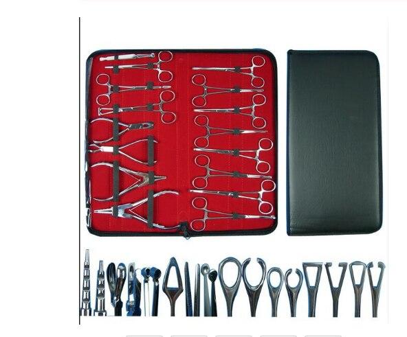 Juego de Herramientas para piercings, herramientas quirúrgicas de acero para el vientre, para oreja, lengua, Septum, pinzas de sujeción, pinzas de sujeción, Kit de herramientas
