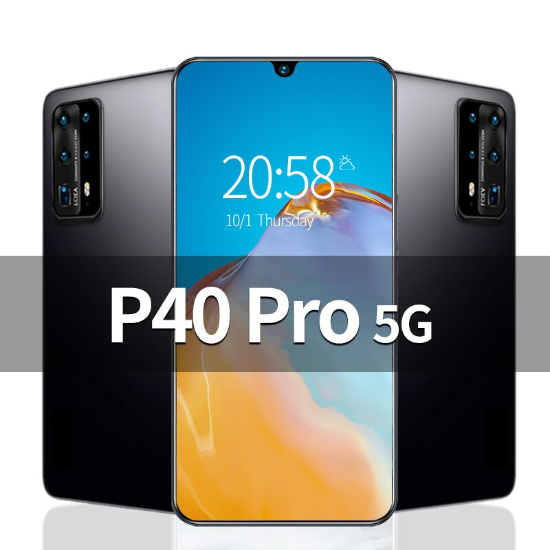 P40 Pro 6.8 inch Unlocked Smartphone 4G 5G 16MP+32MP 12GB+512GB 5800mAh Mobile Phones Telefones Celu