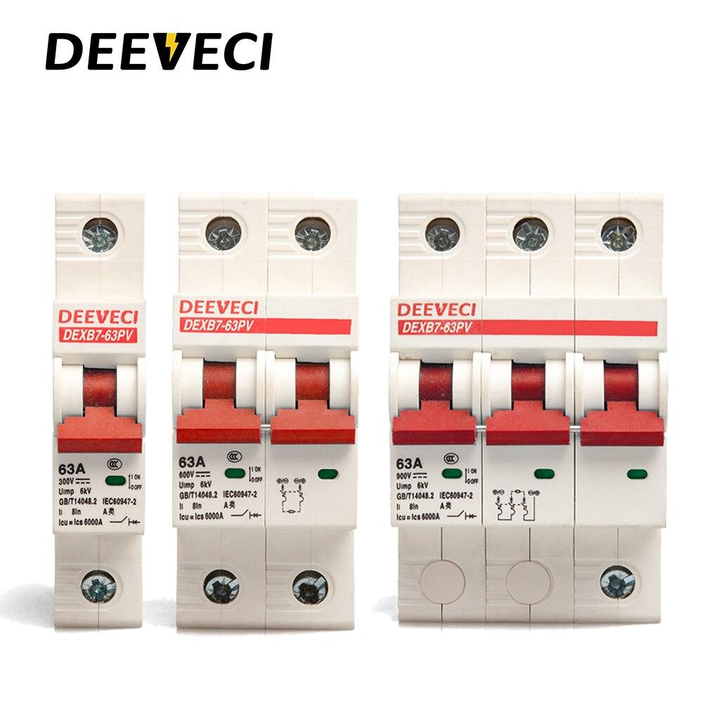1P 2P 3P 4P 250V 1200v micro circuit breaker 6A 10A 20A 25A 32A 63A mini mcb DC Solar Energy Photovoltaic PV breaker
