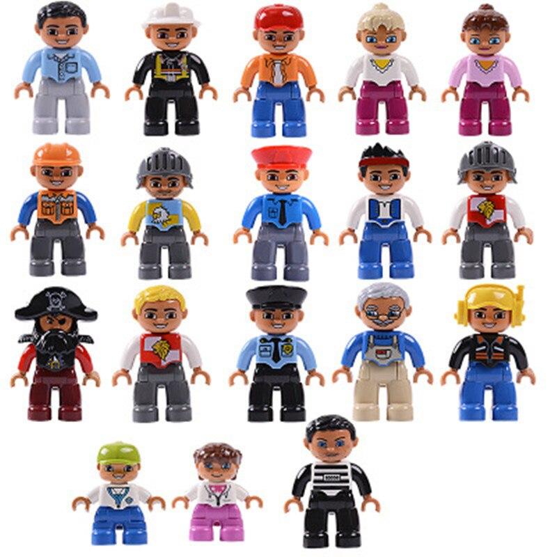 Venta única gran tamaño Diy bloques de construcción personaje Compatible con figuras familiares Duploed juguetes para niños regalos de cumpleaños
