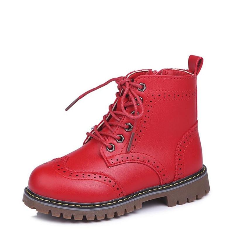 ¡Novedad de 2019! botas de moda para chicas de MHYONS, zapatos estampados para niños, bonitas botas cómodas de piel de vaca para niñas, botas Martin impermeables para niñas