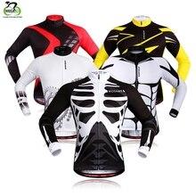 WOSAWE manches longues cyclisme maillot hommes vtt descente maillots respirant vélo chemise Motocross Sports cyclisme vêtements Jersey