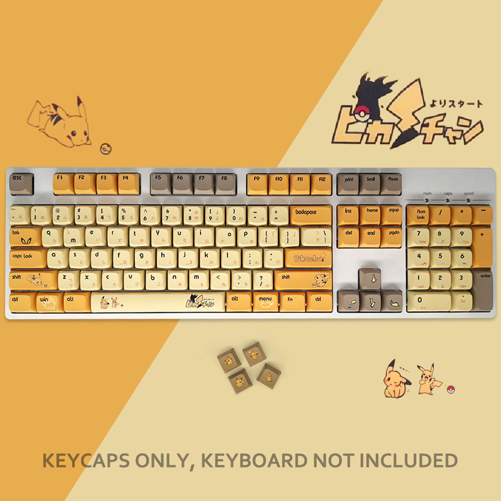 PBT Keycap 108-key Dye Sublimation  Keycaps Cherry For Cherry Mx Switch Mechanical Gaming Keyboard akko 3084 v2 ocean star 84 key mechanical game keyboard pbt keycap usb 2 0 type c wired side letter caverd design gaming keyboard pink shaft