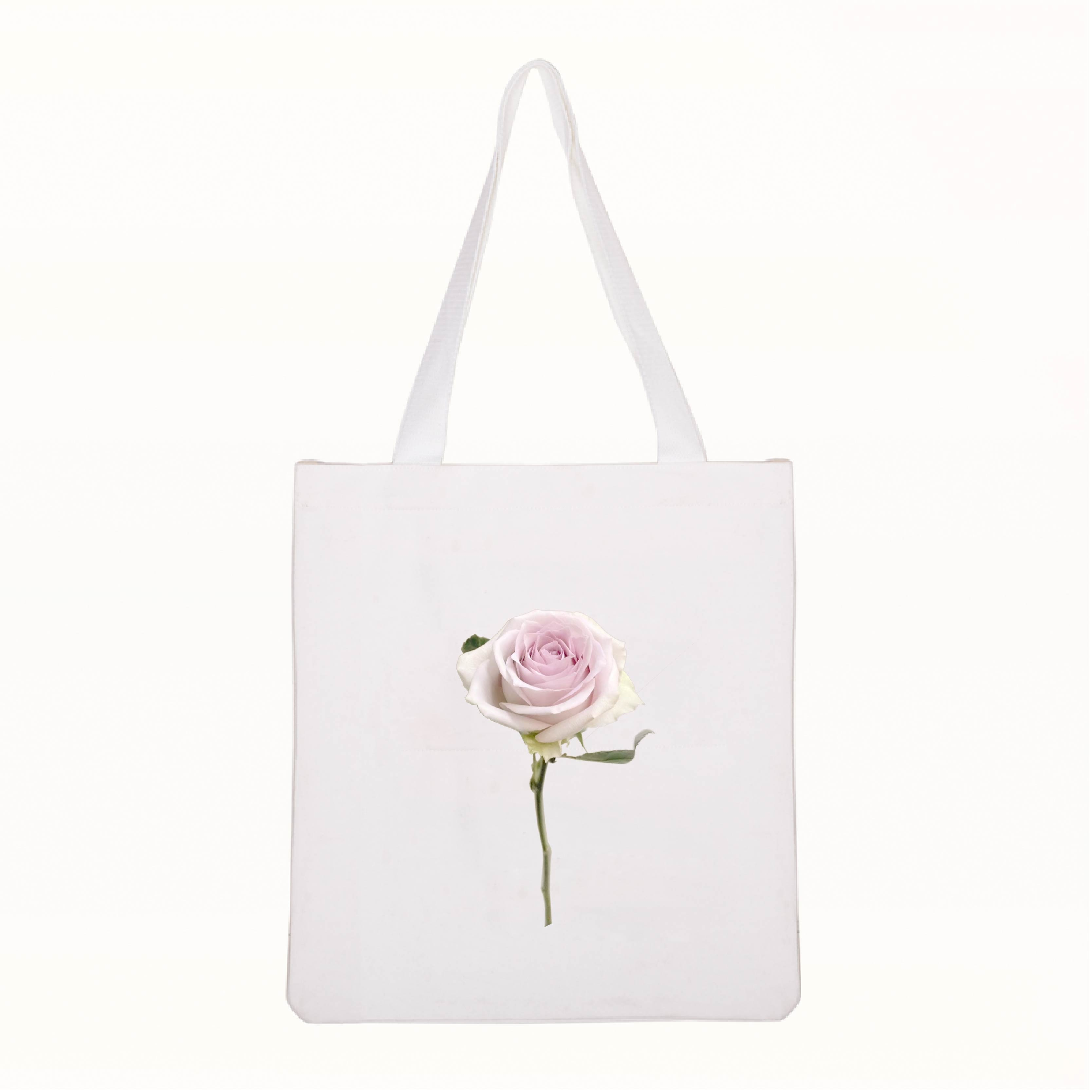Flower prints Travel Bags Street Shopping Marketing Print Active canvas cotton bags Luggage&Bags Shoulder Bag Top-Handle
