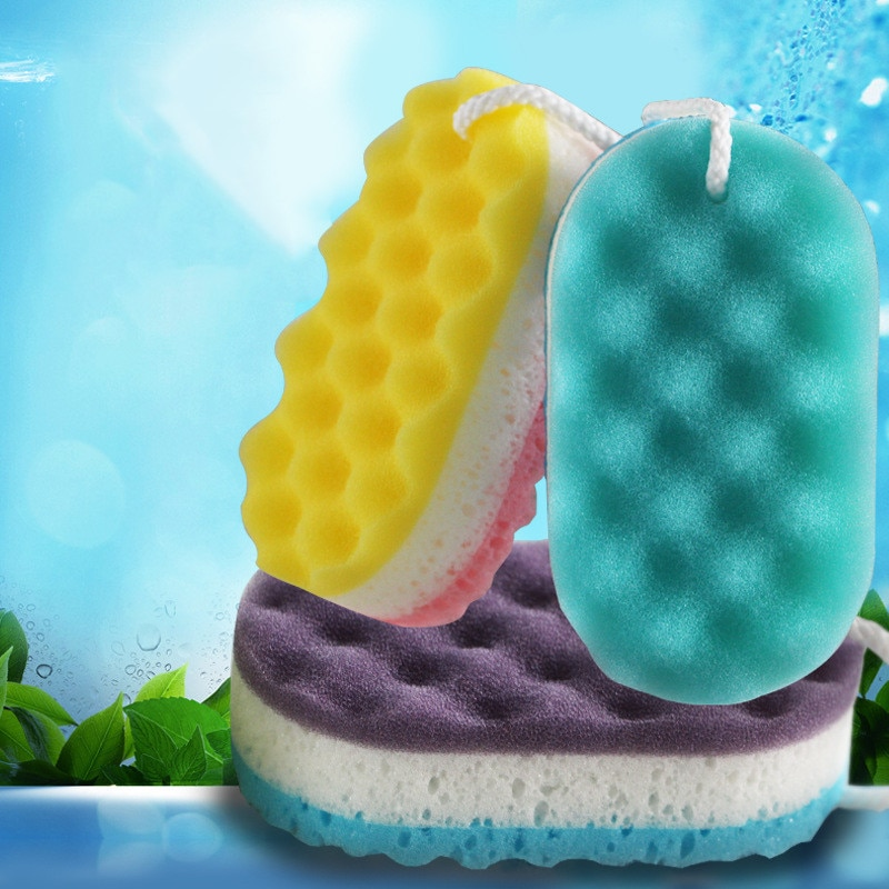 Three-layer Wave Bath Sponge Body Brush Shower Skin Clean Massage Cleaning Shower Brush Skin Remover