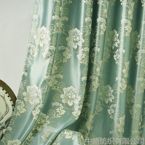 The New Type Curtains for Living Room Bedroom High Precision Gold Jacquard Flower Blooming Curtain Material