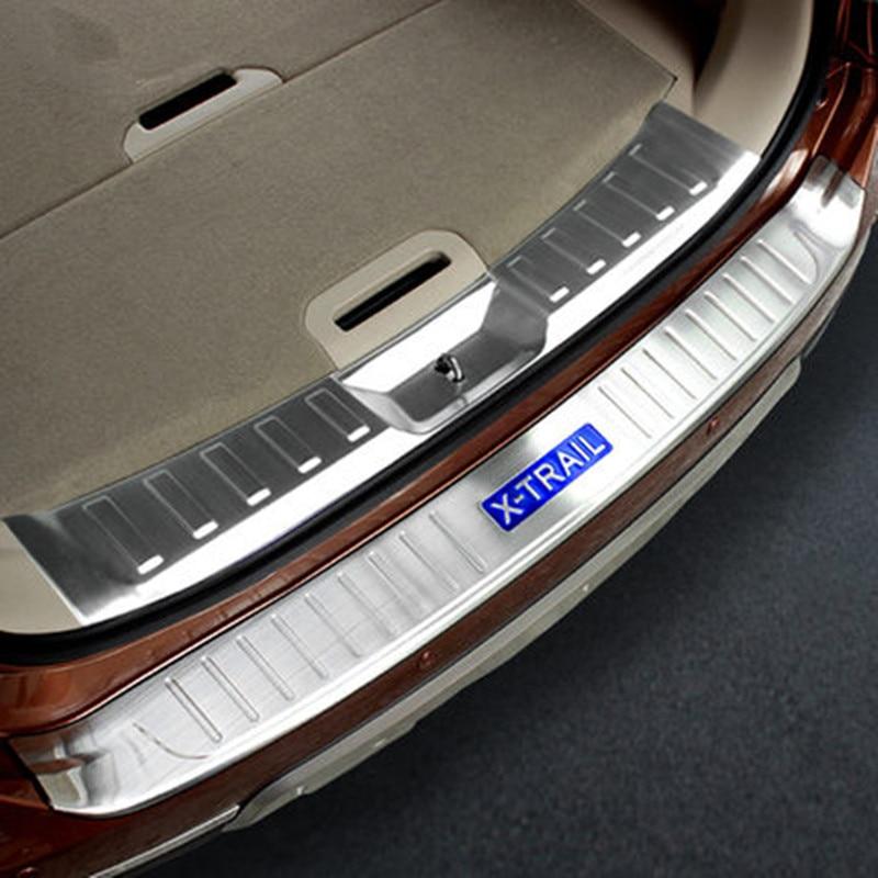 Rogue-واقي المصد الخلفي من الفولاذ المقاوم للصدأ ، غطاء عتبة صندوق السيارة ، تقليم لنيسان X-Trail X Trail T32 2014-2016 ، ملحقات السيارة