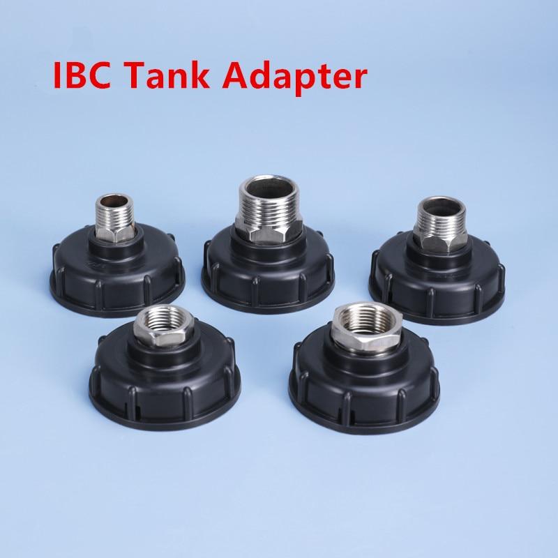 1000L IBC Tote tankı tahliye adaptörü 304 paslanmaz çelik borulu ek parçaları değiştirme ev bahçe sulama anahtarı aracı
