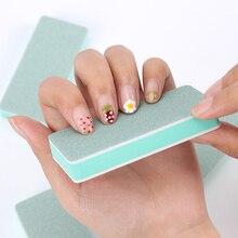 1PC Double face poli lime à ongles vert blanc Wenwan poli bloc mode femme manucure outil polissage bloc