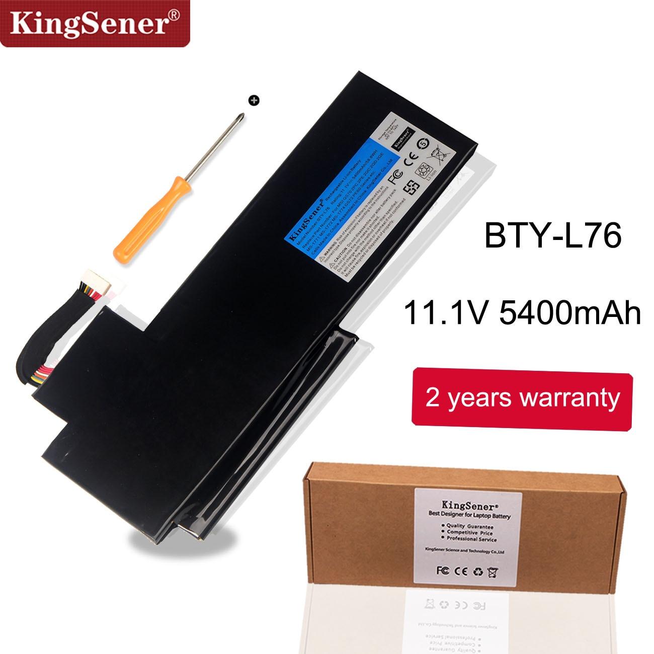 KingSener BTY-L76 Аккумулятор для ноутбука MSI GS70 2OD 2 шт. 2PE 2QC 2QD 2QE GS72 MS-1771 MS-1772 MS-1773 MEDION X7613 MD98802