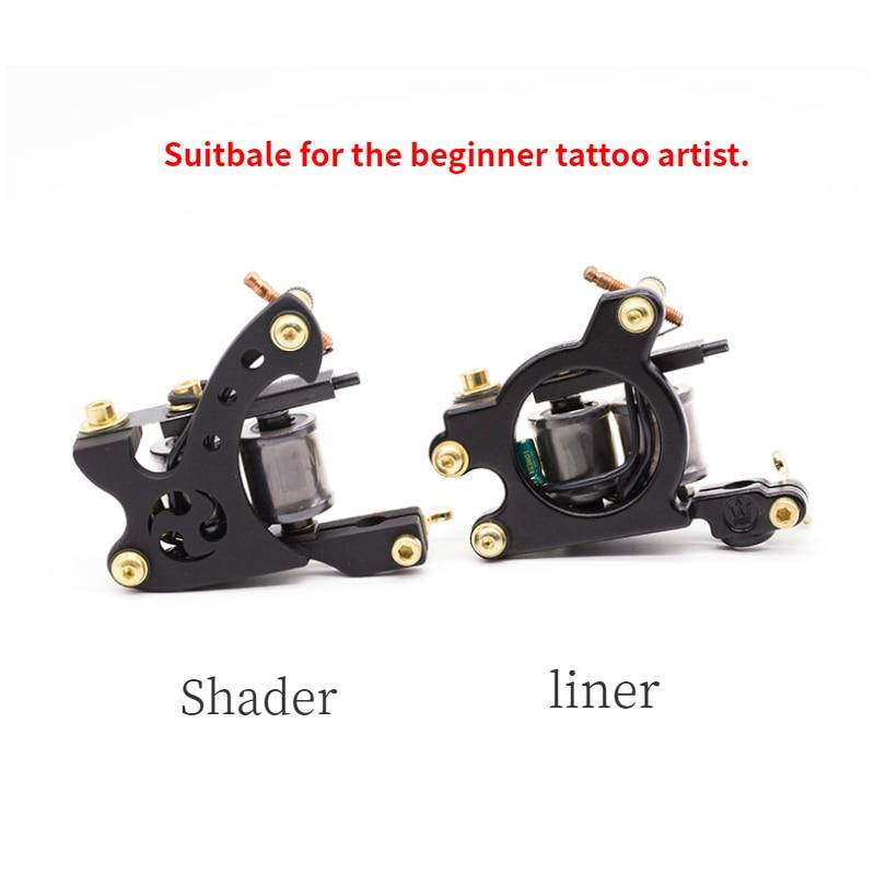 Tatuaje bobina máquina tatuaje suministros delineador y sombreador para principiantes tatuaje máquina maquillaje permanente