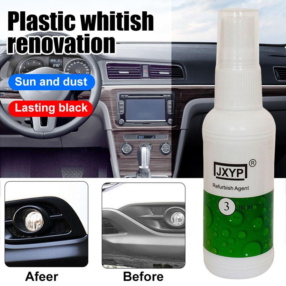 20/50ml peças plásticas recauchutagem agente automotivo interior plástico parte recauchutagem revestimento pasta manutenção carro mais limpo