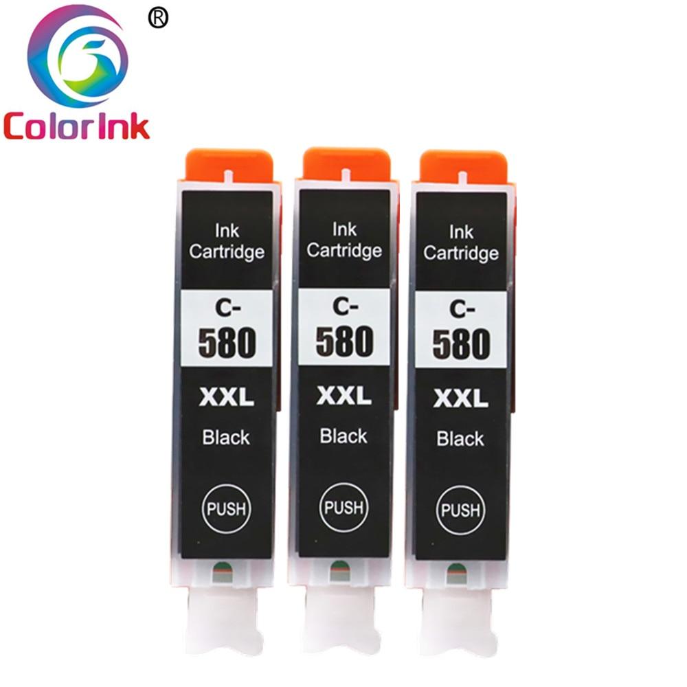 Negro PGI580XXL CLI581XXL 580 580XL cartucho de tinta XL para Canon Pixma TS8150 TS8151 TS8152 TS9150 TS9155 impresora 580XXL 581XXL