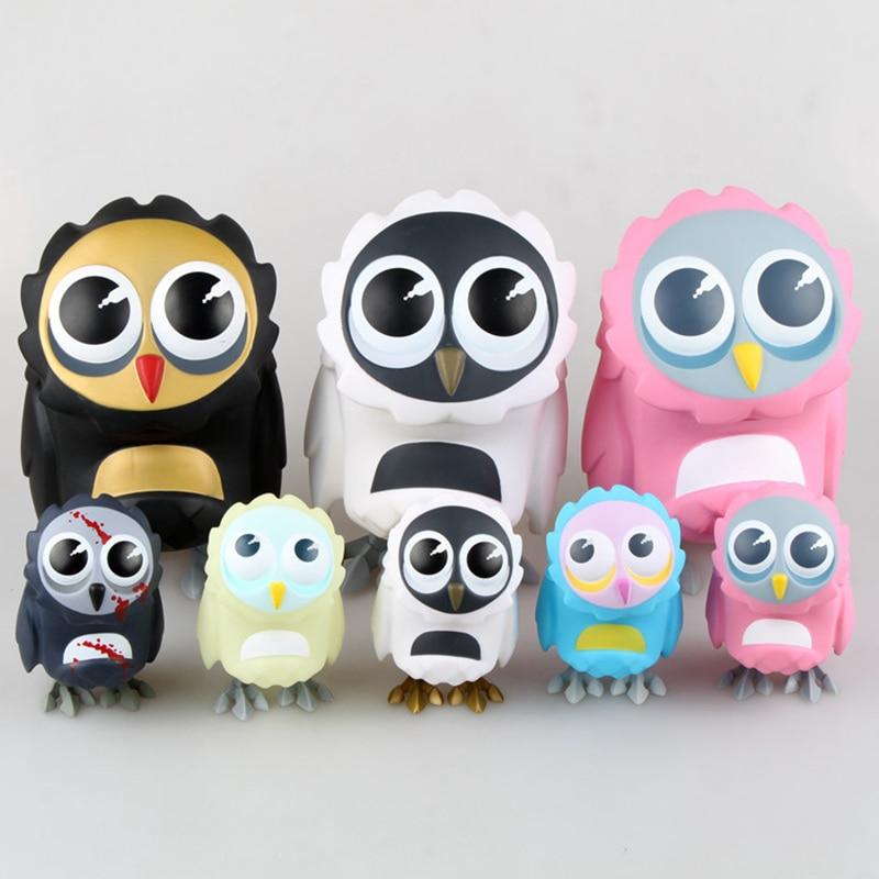 Coarse Lovely Owl Series Toy Cute Animal Model Coarsetoys Omen Figma Action Figure Toys