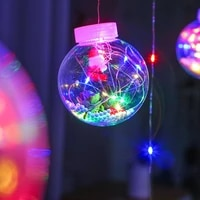 wishing ball led christmas day curtain light waterproof garden balcony decoration copper wire light colorful string light