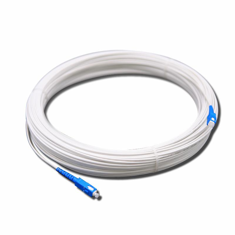 10m 20m 30m 50m FTTH outdoor Simplex mode fiber optic patch cord SC UPC Single Mode Drop Cable