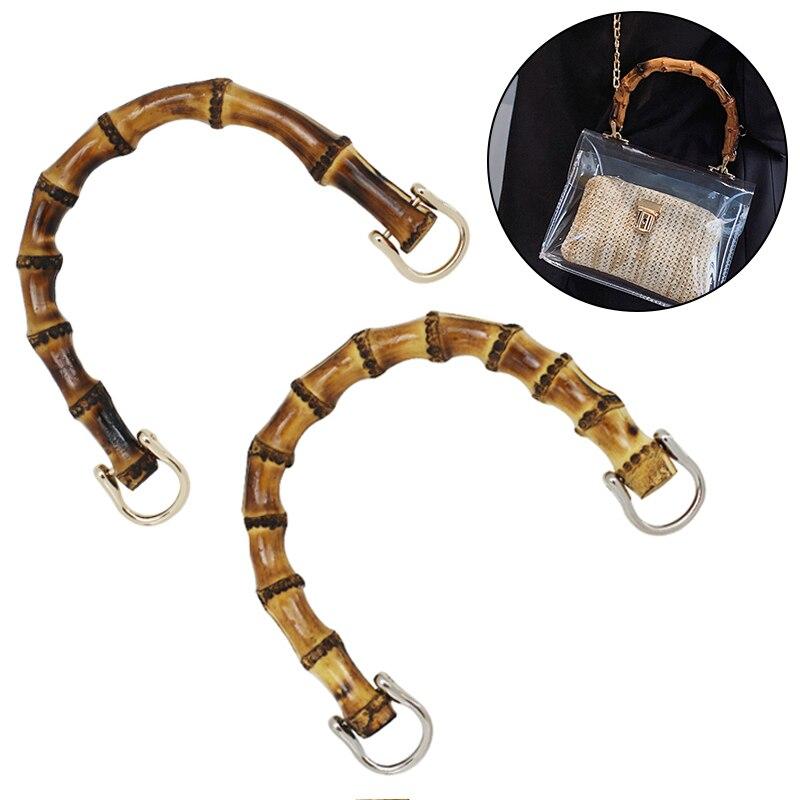 Аксессуары для женских сумок, натуральные кольца с U-образной бамбуковой имитацией, с застежкой-звеньем, аксессуары для сумок