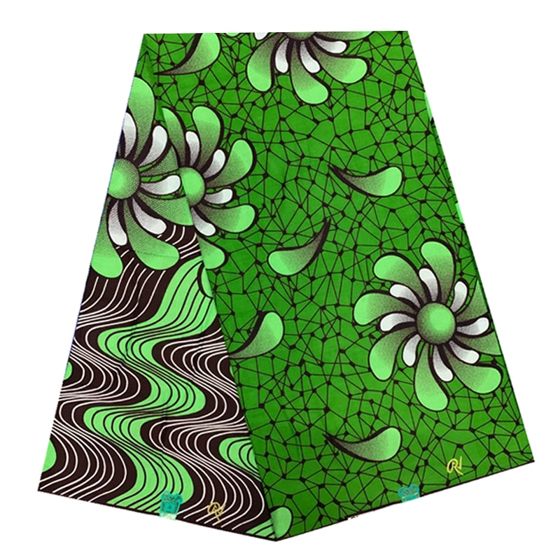 Real Soft Breathable African Wax Printed Cotton Fabric 100%High Quality Ankara Sewing Material For Clothes By The Yards R-V 4-23