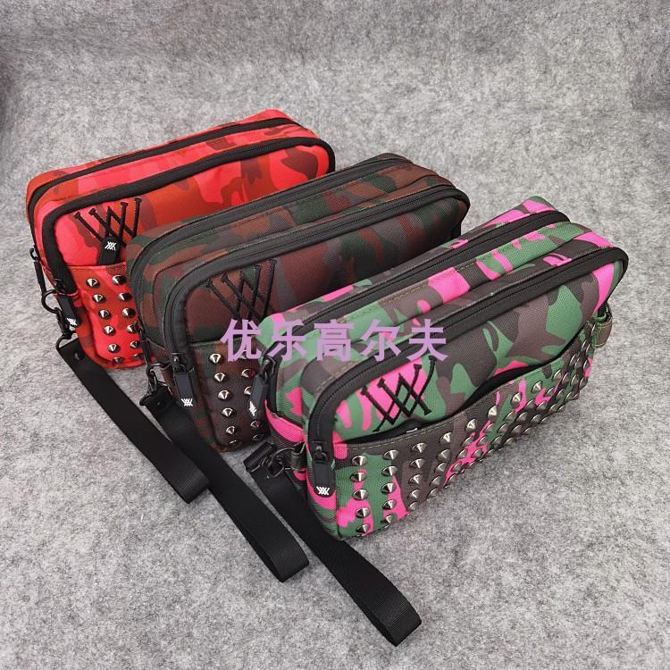 Сумка для гольфа, спортивные товары, сумка для хранения, сумка-клатч, модная Корейская камуфляжная трендовая сумка на молнии с заклепками