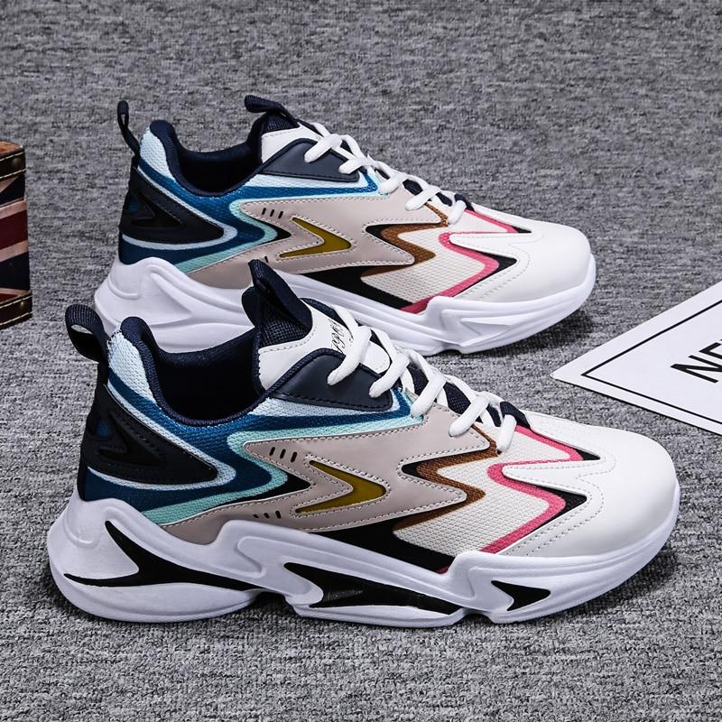 Fashion Men Sneakers Mesh Casual Shoes Lace-up Mens Shoes Lightweight Vulcanize Shoes Walking Sneakers 2020 summer fashion men sneakers mesh casual shoes lace up men shoes lightweight vulcanized shoes walking sneakers running shoes