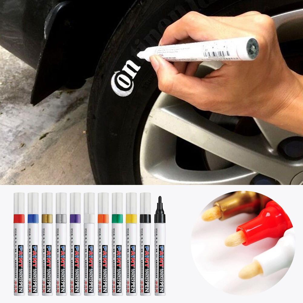 Car Wheel Tire Oily Paint Pen Painting Mark Pen Body Compound Auto Rubber Tyre Tread Permanent Paint