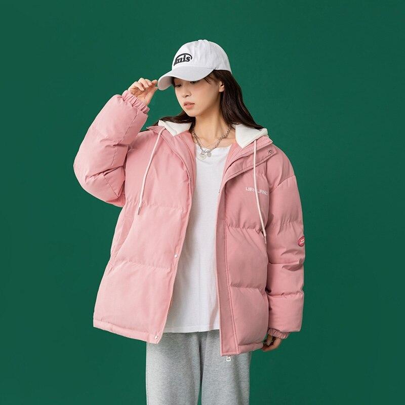куртка зимняя женская Зимняя женская куртка 2021, длинная парка, стеганая куртка, теплая Свободная куртка, толстый свитер с капюшоном, пальто, ...